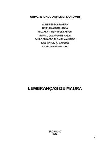 f0e183a3a79 Lembranças de Maura by Carolina Bassi de Moura - issuu