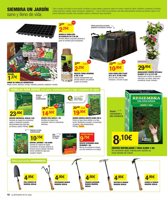 Catalogo de ofertas de leroy merlin primavera 2013 by for Semillas leroy merlin