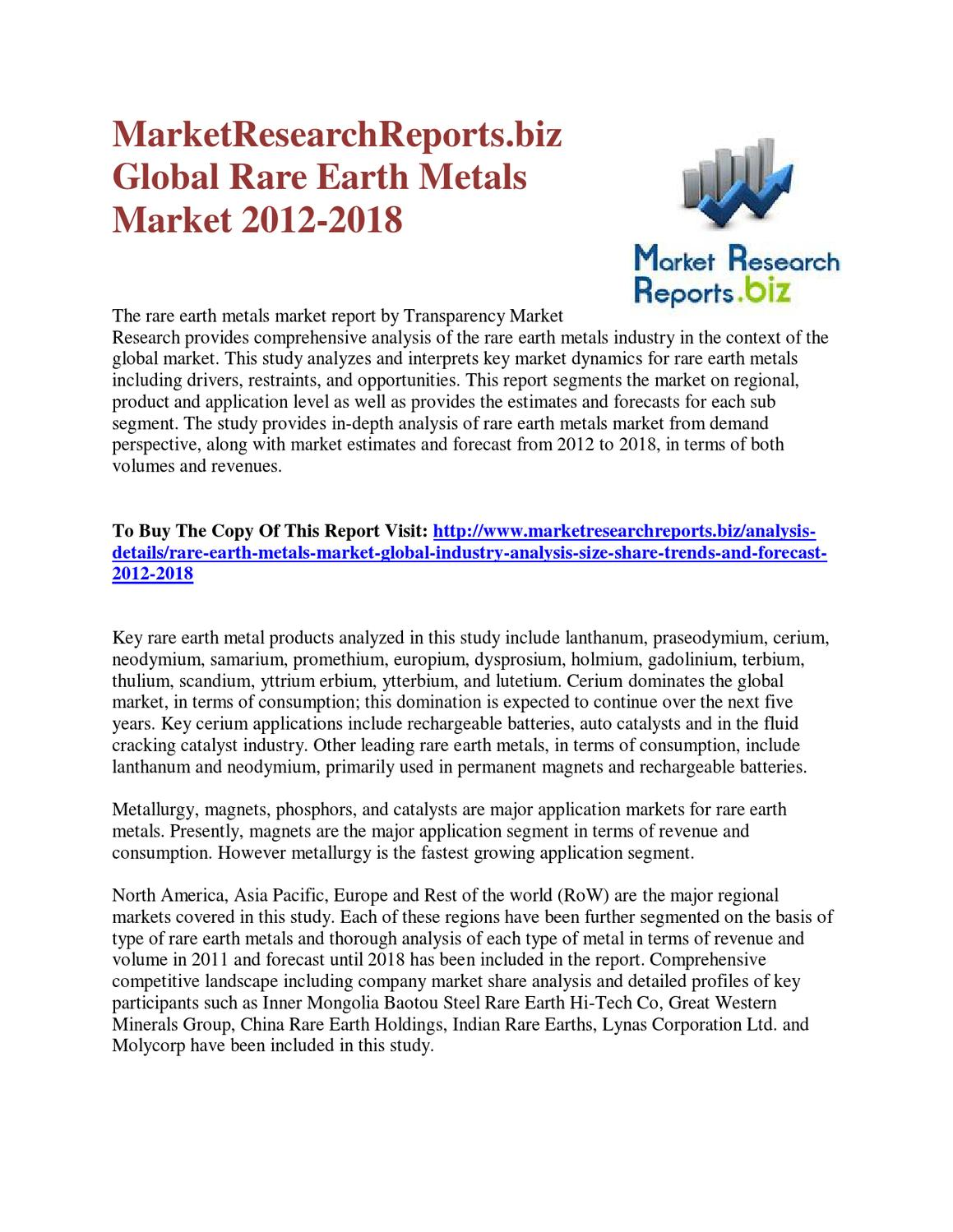 worldwide rare earth elements industry to Rare earth metals are vital to some of the world's faster growing industries:  catalysts, nd-magnets, ceramics, glass, metallurgy, battery alloys, electronics and .