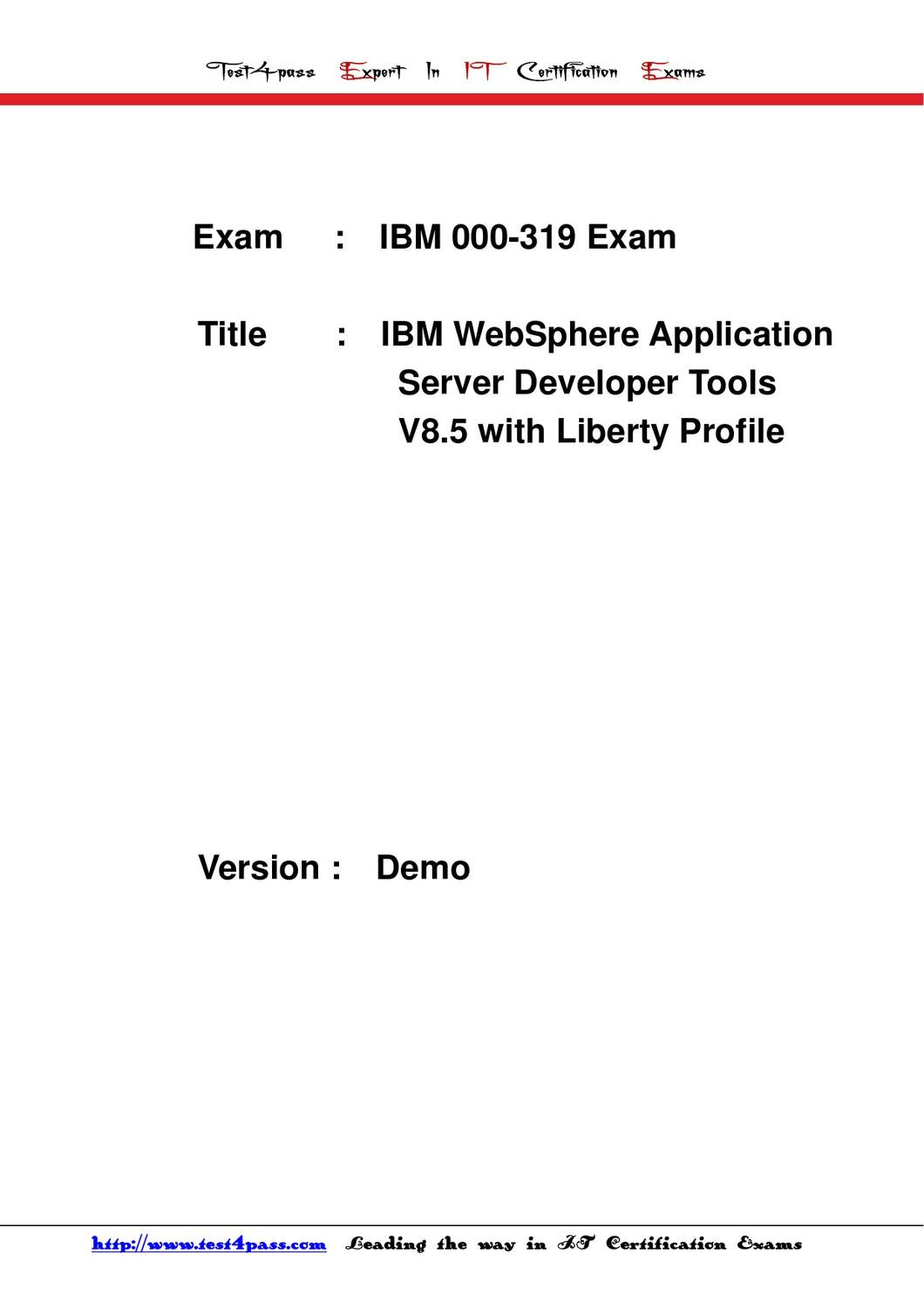 Test4pass Ibm Exam 000 319 Test Dumps Details By Tonic
