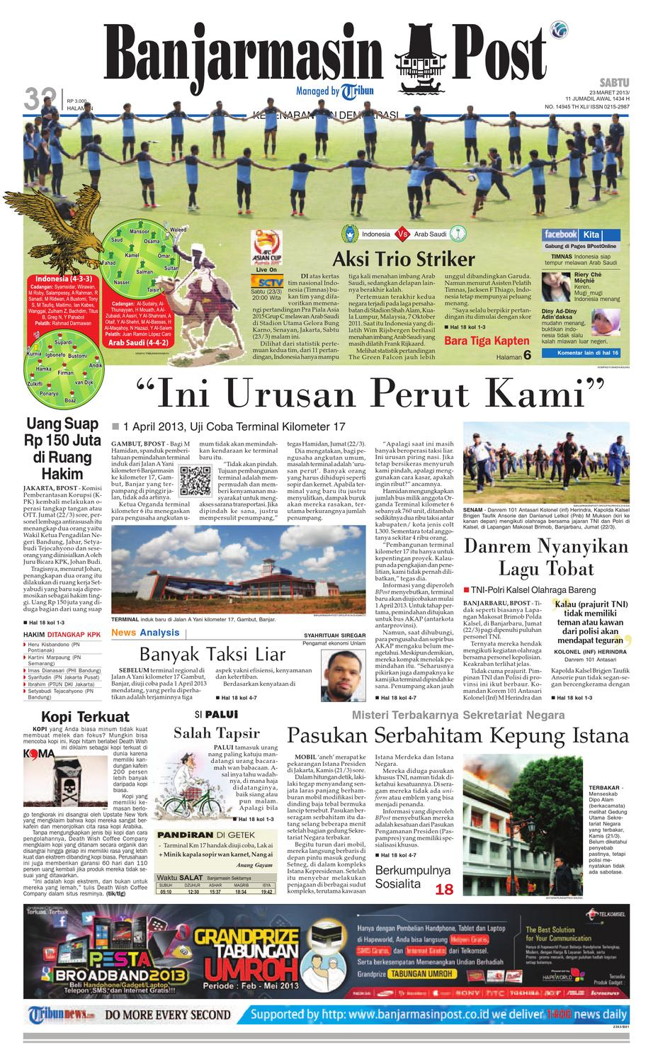 Banjarmasin Post edisi cetak Sabtu, 23 Maret 2013 by Banjarmasin Post -  issuu