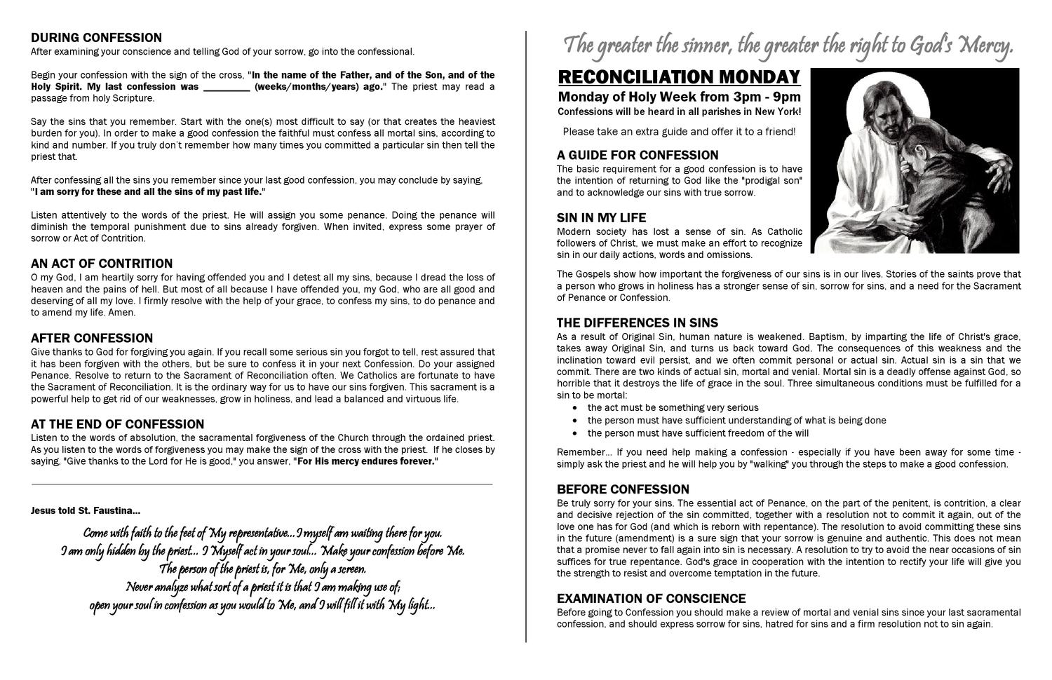 Guide for Confession by Ctk Parish - issuu
