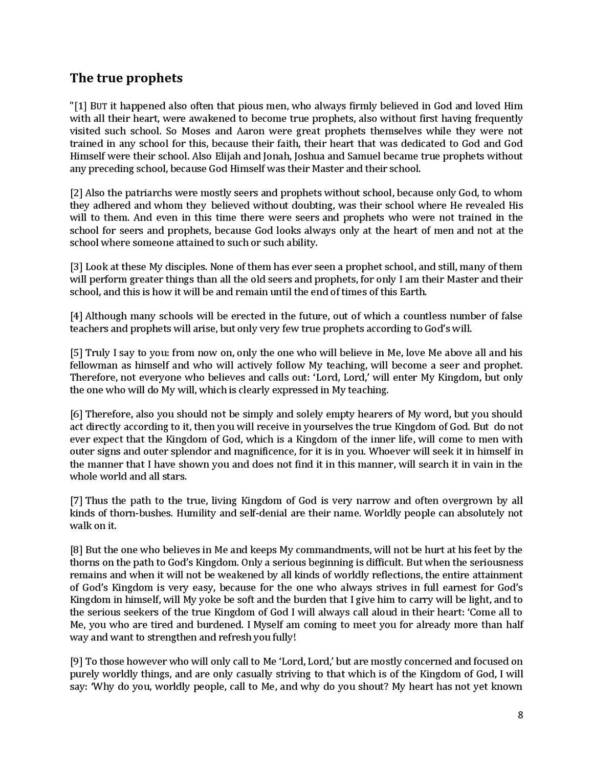 Brochure - NEW REVELATION - ABOUT TRUE AND FALSE PROPHETS