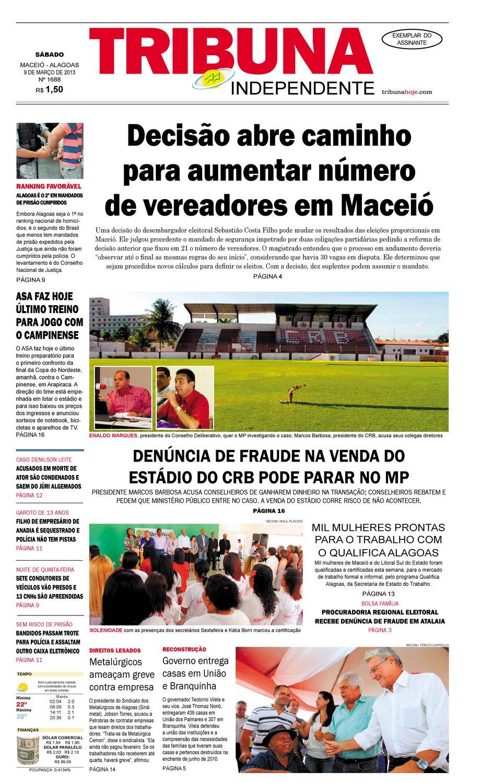 bd55387ea524e Edição n° 1688 - 09 de março de 2013 by Tribuna Hoje - issuu