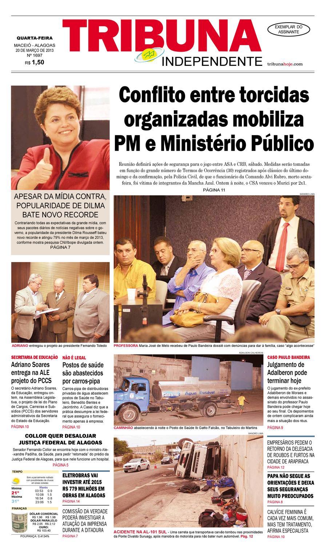 Edição n° 1697 - 20 de março de 2013 by Tribuna Hoje - issuu d786bbc2eb485