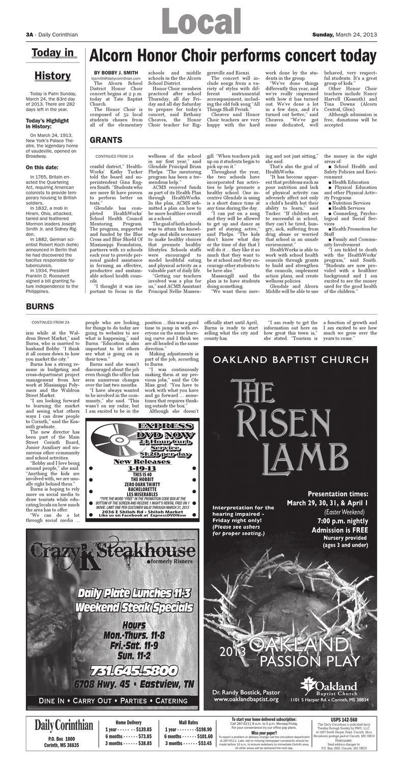 Daily Corinthian E-Edition 032413 by Daily Corinthian - issuu