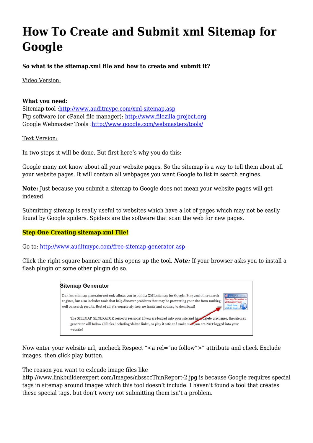 step by step creating submitting google sitemap xml by jack sarlo