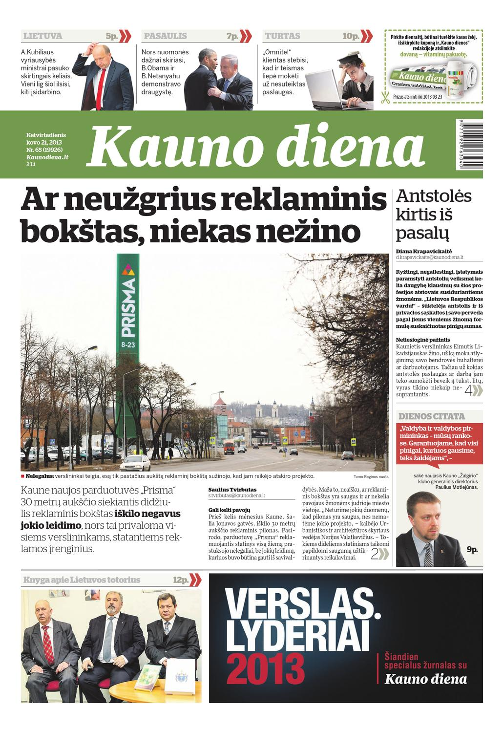 2013-03-21 Kauno diena by Diena Media News - issuu