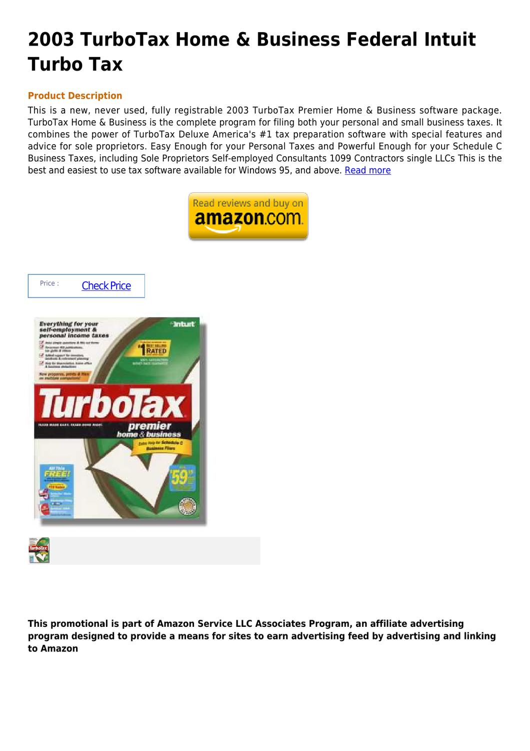 Low price intuit turbotax home and business 2013 usa