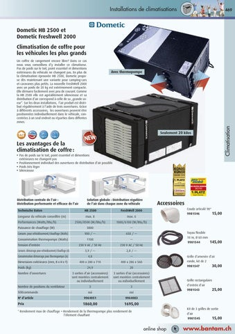 Page 471. Installations de climatisations. 469. Dometic HB 2500 et Dometic  Freshwell 2000 Climatisation de coffre ... b3fb10190a50