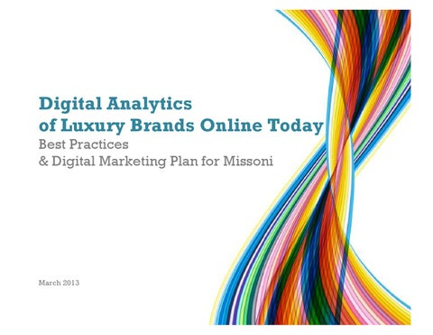 6b24763e1397 Digital Analytics of Luxury Brands Online Today. Best Practices ...