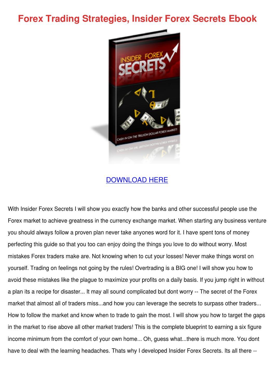 Forex insider secrets