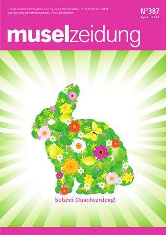 Muselzeidung 387 by Presss sarl - issuu
