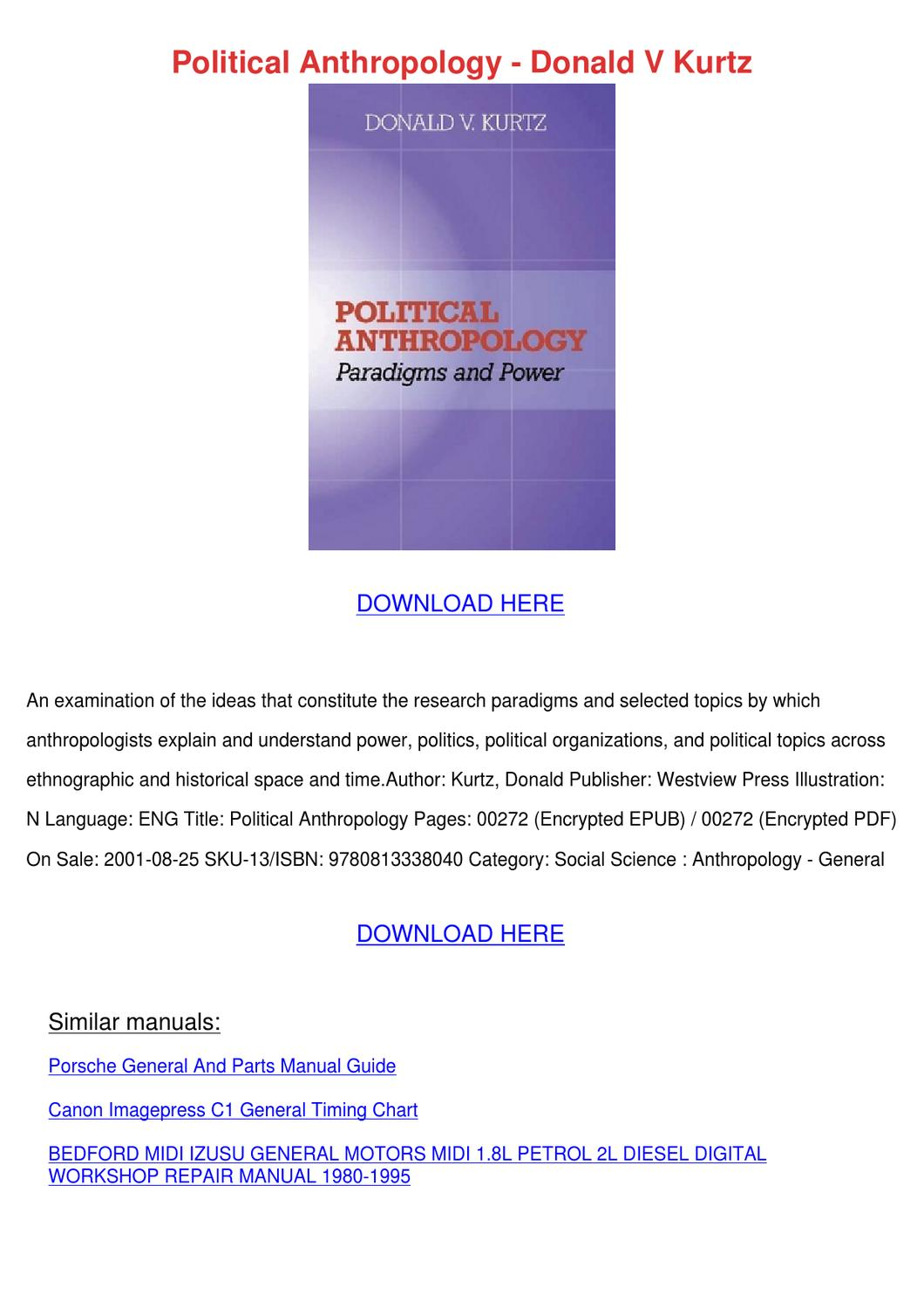 Political Science manual Pdf Download anderson university