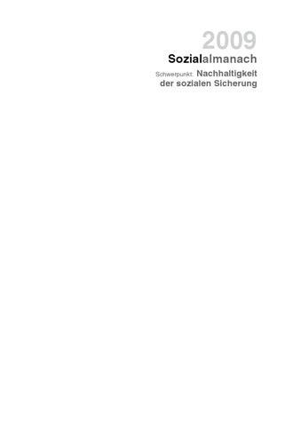 Sozialalmanach 2009 Schwerpunkt Nachhaltigkeit Der Sozialen