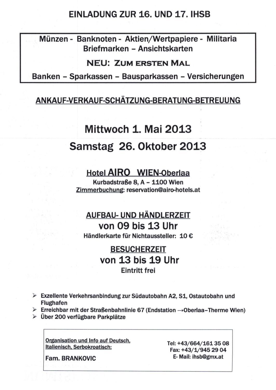 Ihsb Wien Oberlaa2013 By Numis Post Issuu