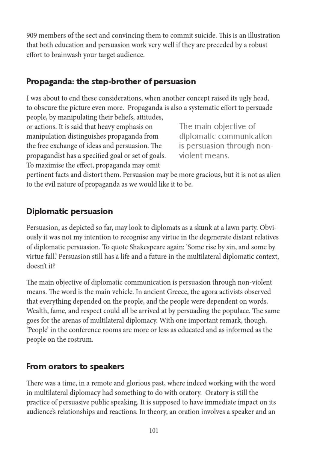 Persuasion, the essence of diplomacy by DiploFoundation - issuu