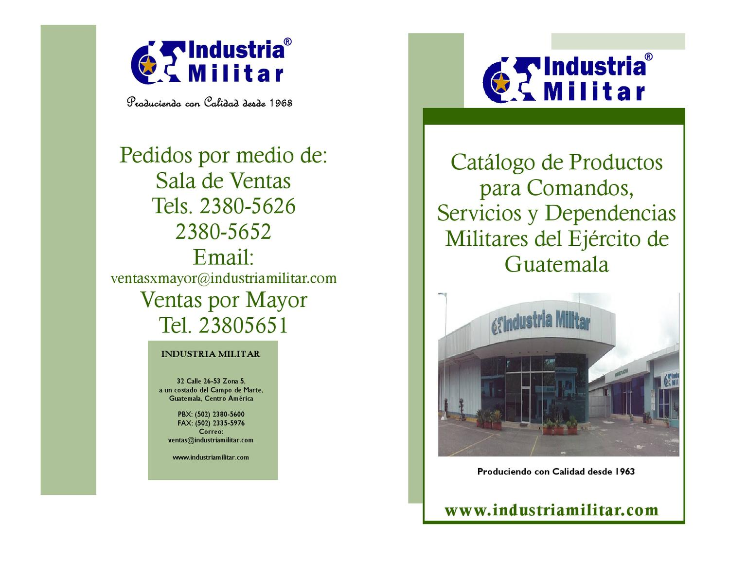98afaa794c5f catalogo de productos industria militar by giovanni jimenez - issuu
