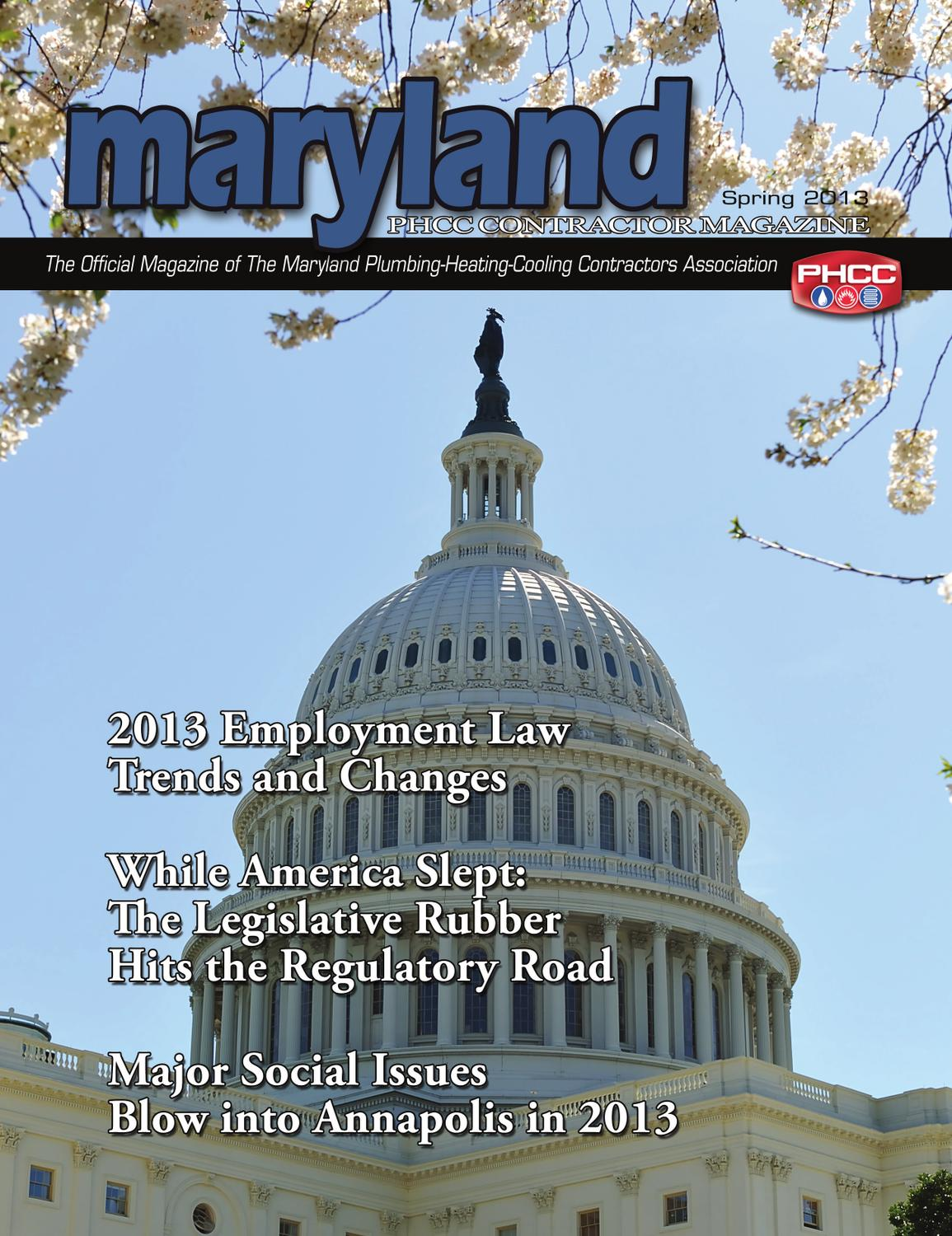 maryland phcc magazine spring 2013 by kris mccurry issuu. Black Bedroom Furniture Sets. Home Design Ideas