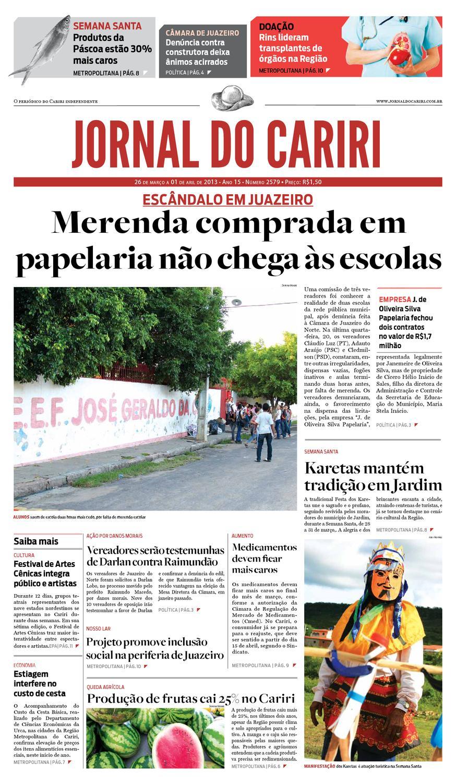 Jornal do Cariri - 26 de março a 01 de abril de 2013  by