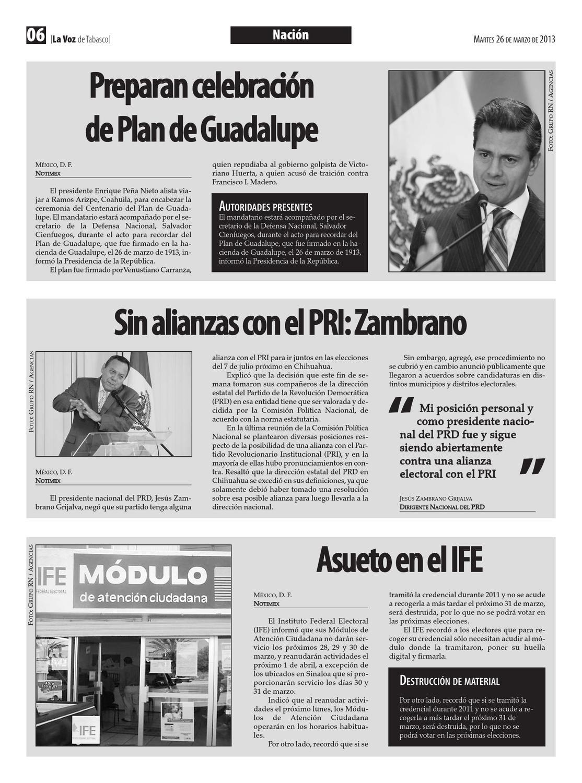 La Voz De Tabasco Martes 26 De Marzo 2013 By Grupo Rumbo