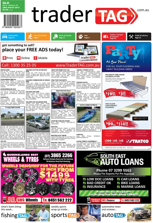 Tradertag Queensland Edition 13 2013 By Tradertag Design