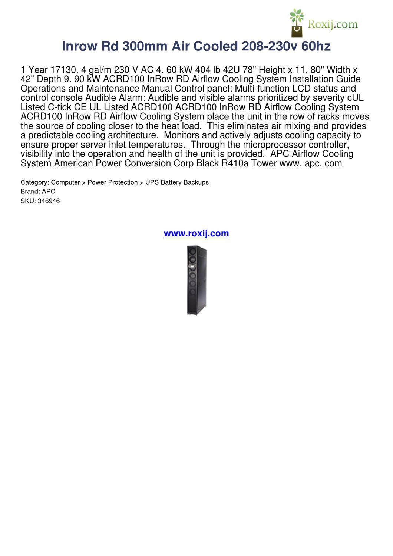 Acrd100 Installation Manual