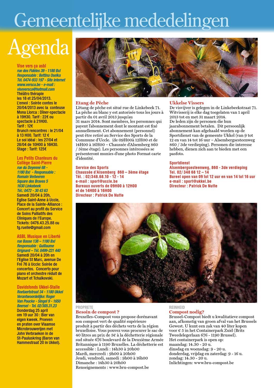 Wolvendael magazine n° 588 Avril 2013 by Centre Culturel d