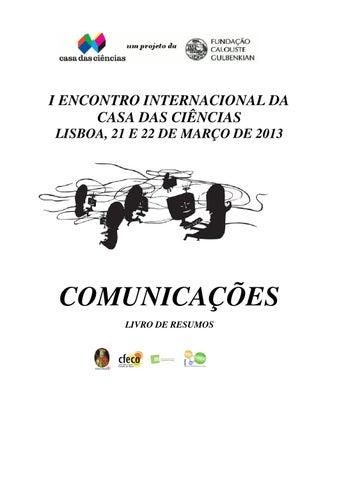 6d758d9b82e4c Livro de resumos do I Encontro Internacional Casa das Ciências by ...