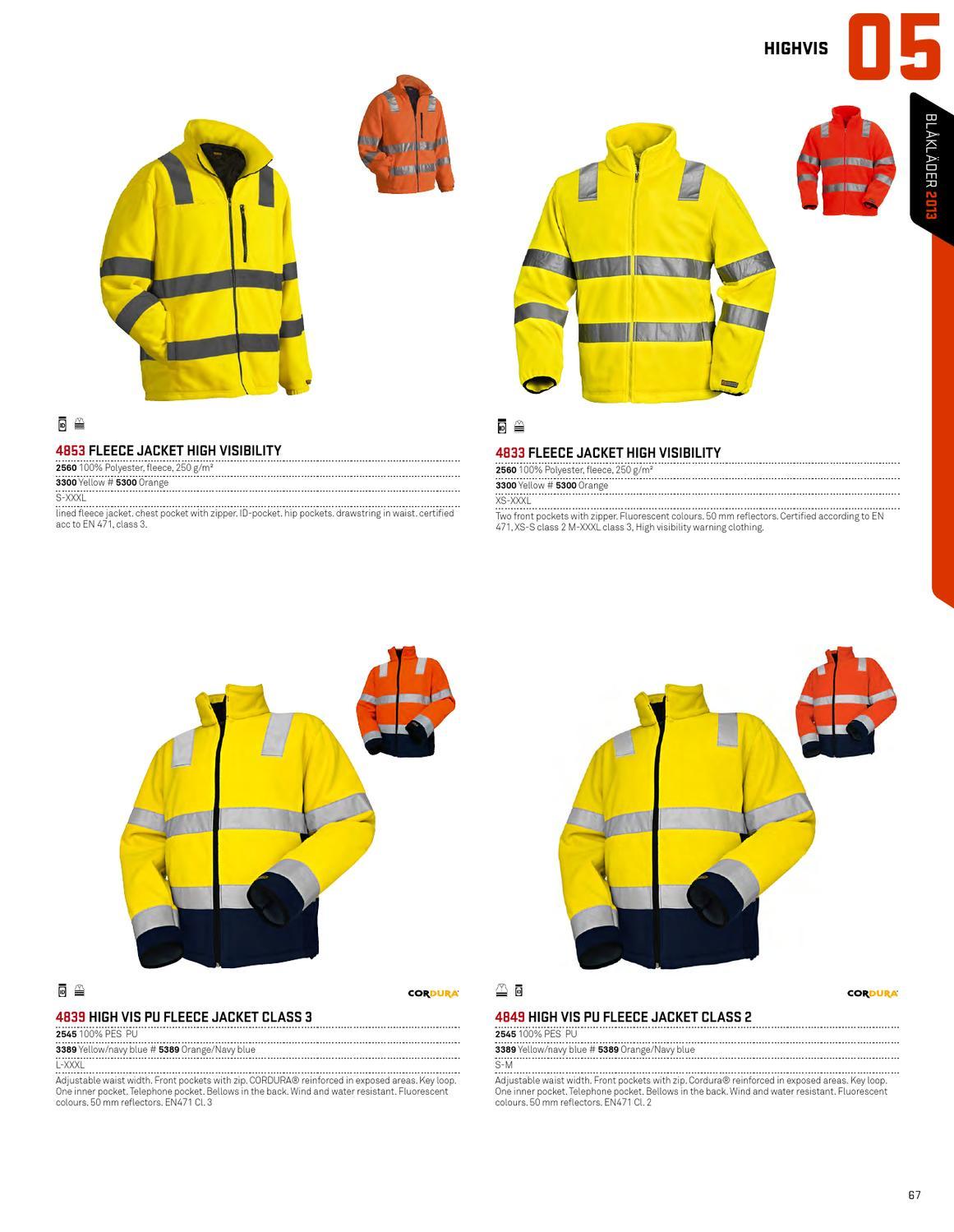 Blaklader Workwear Fleece Jacket High Visibility Yellow XXXL