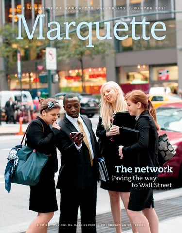 Marquette Magazine Winter 2013 by Marquette University - issuu 2a99a981a8001