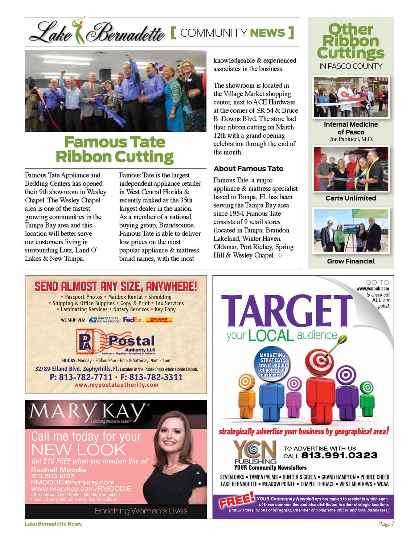 Lake Bernadette News • April 2013 by KEM Media Group, LLC - issuu