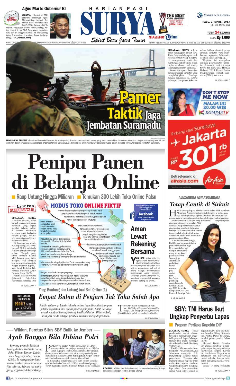 E Paper Surya Edisi 27 Maret 2013 By Harian Surya Issuu