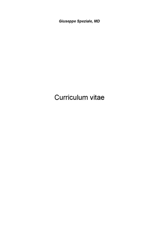 Curriculum Prof Giuseppe Speziale By Andrea Di Candia Issuu