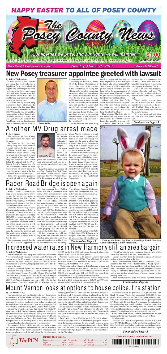 best service f337b e5cff March 26, 2013 - The Posey County News