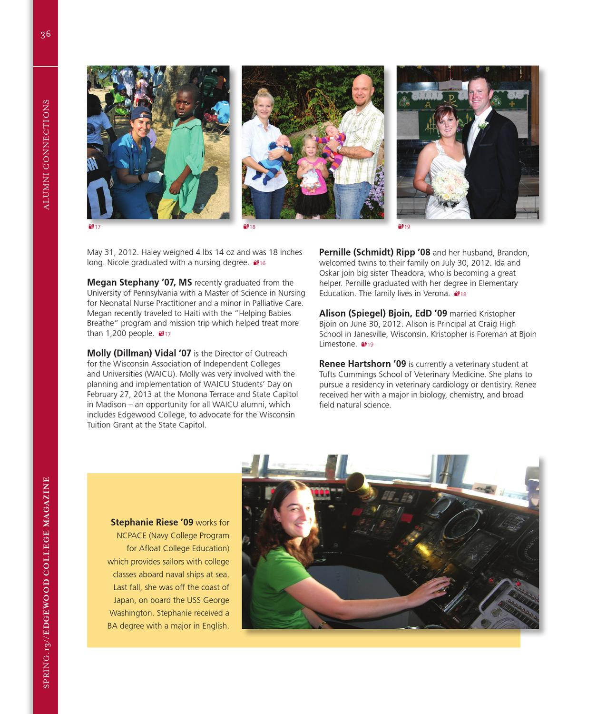 Edgewood College Magazine - Spring 2013 by Edgewood College