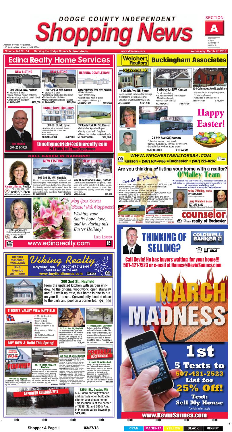 03 27 13 Shopper A And B By Dodge County Independent Issuu