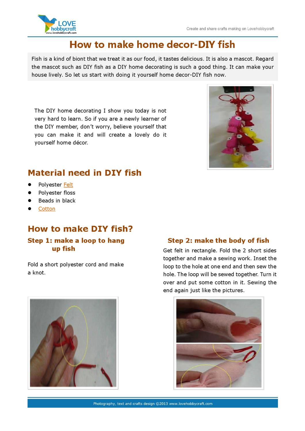 How To Make Home Decor Diy Fish By Green Ada   Issuu