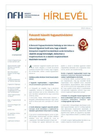 2013 3. NFH Időszakos Hírlevél by Nemzeti Fogyasztóvédelmi Hatóság ... 5a01602f00
