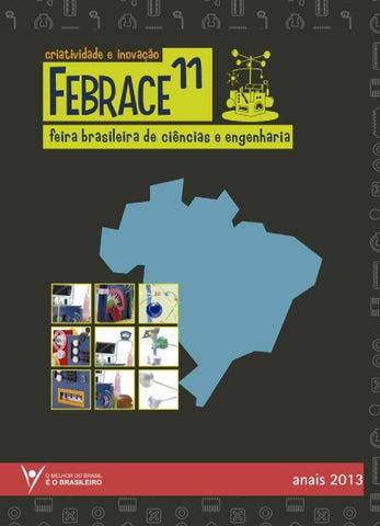 8528e54b0ea6c Anais FEBRACE 2013 by FEBRACE - Feira Brasileira de Ciências e ...