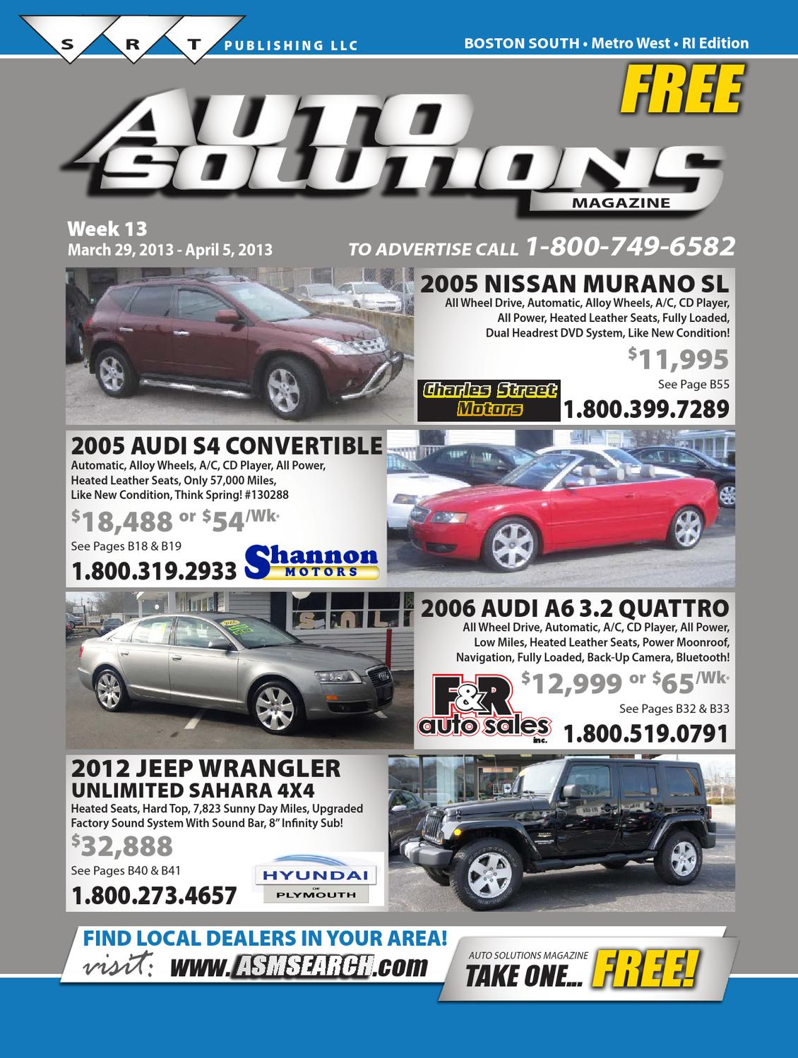 Week 13 (South Book) by Auto Solutions Magazine - issuu