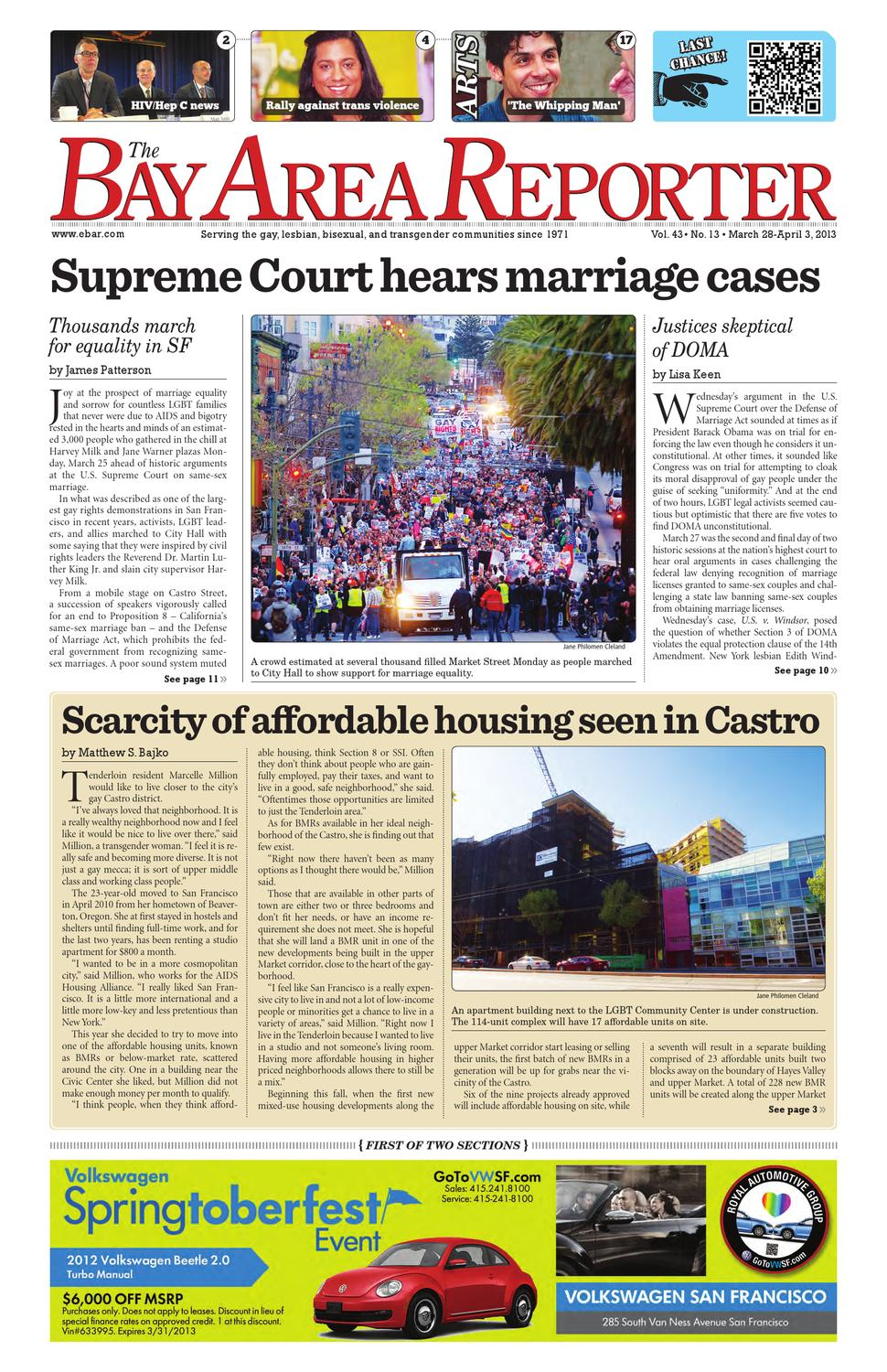 March 28, 2013 Edition of the Bay Area Reporter