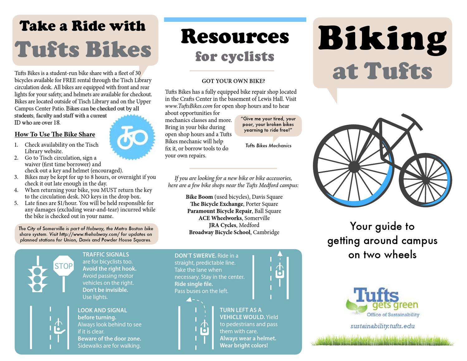 Tufts Medford Campus Map.Tufts Bike Map By Fannie Koa Issuu