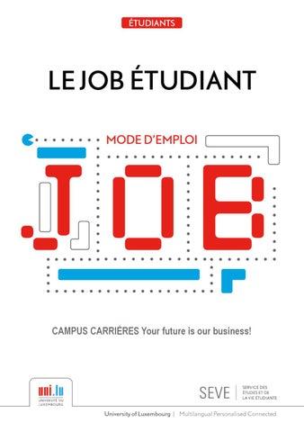 guide du job tudiant by point info jeunes issuu. Black Bedroom Furniture Sets. Home Design Ideas