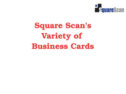 Square scans variety of business cards by qr code issuu square scans variety of business cards reheart Image collections