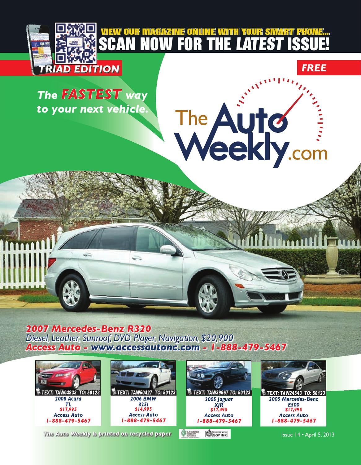 Issue 1314b Triad Edition The Auto Weekly by The Auto Weekly