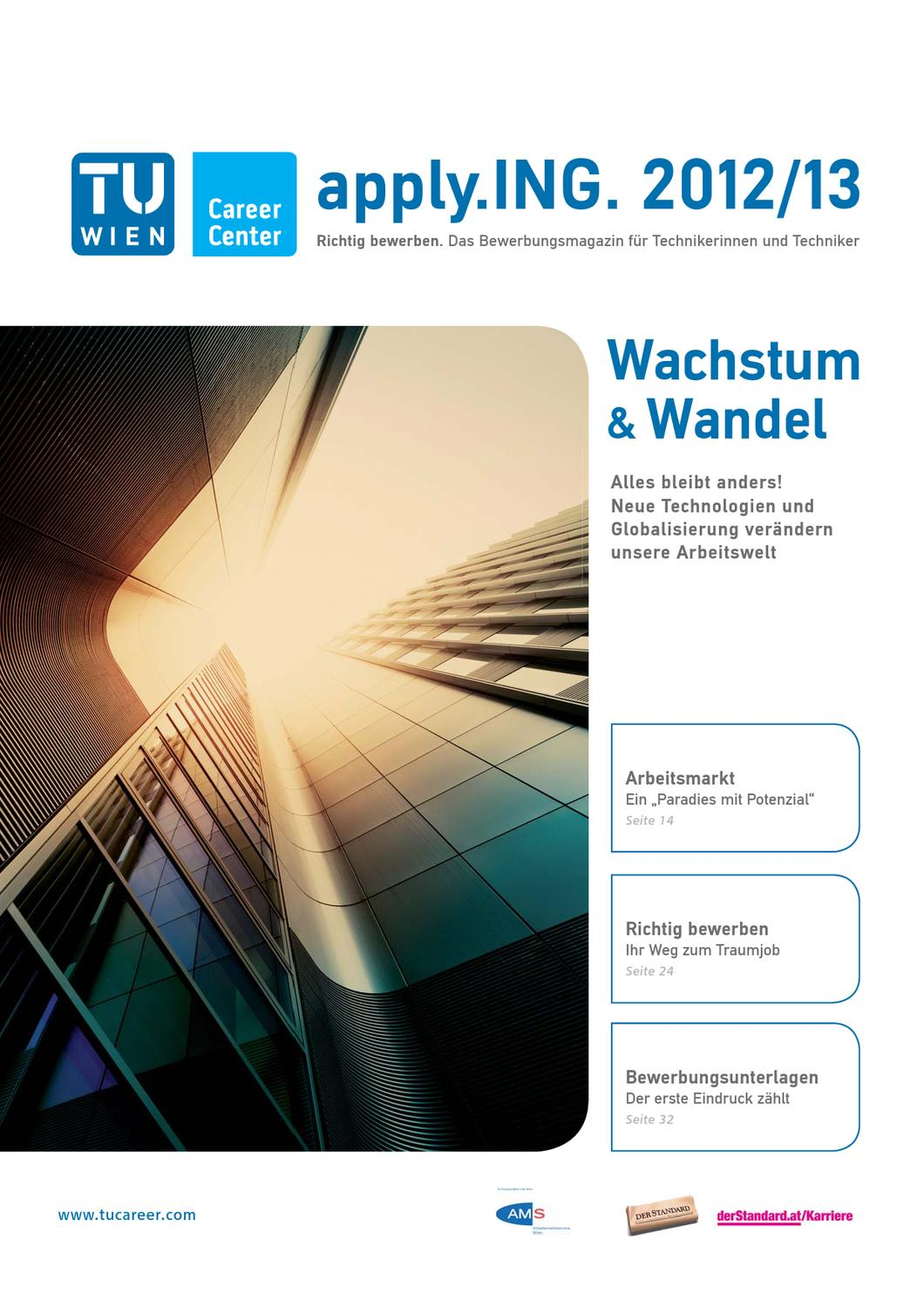 apply.ING. - Das Bewerbungsmagazin 2012/13 by TU Career Center GmbH - issuu
