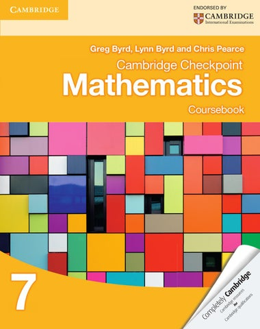 Cambridge Checkpoint Mathematics Coursebook 7 by Cambridge