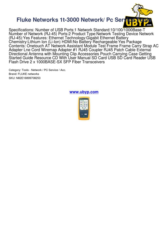 fluke networks 1t 3000 network pc service tools 1382439 by Fluke 77 User Manual fluke ti 45 user manual