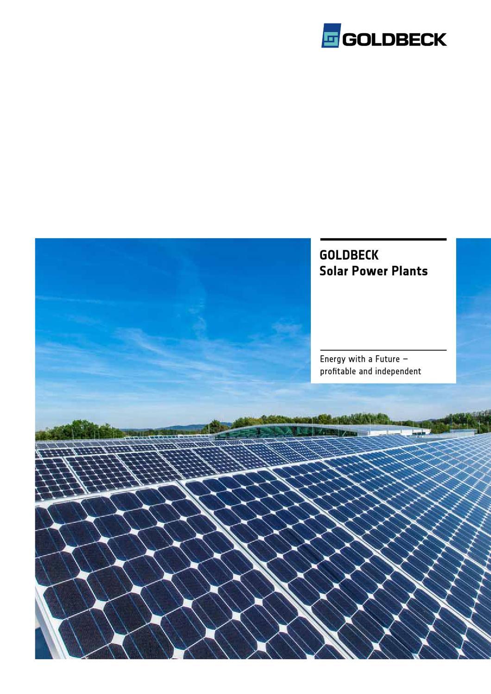 Goldbeck Solar Power Plants By Deteringdesign Gmbh Issuu